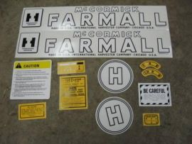 H decal set